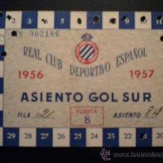 Coleccionismo deportivo: CARNET DEL REAL CLUB DEPORTIVO ESPAÑOL 1956-1957.. Lote 34039998