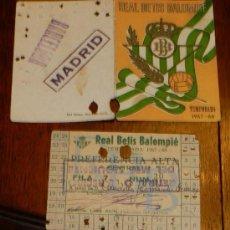 Coleccionismo deportivo: ANTIGUO CARNET DE SOCIO Y ABONO.TEMPORADA 1967-1968 DEL REAL BETIS BALOMPIE, TAL Y COMO SE VE EN LA . Lote 34323647
