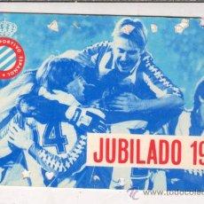 Coleccionismo deportivo: CARNET SOCIO JUBILADO - REAL CLUB DEPORTIVO ESPAÑOL 1985 . Lote 35505466