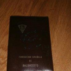 Coleccionismo deportivo: CARTERA FEDERACIÓN ESPAÑOLA DE BALONCESTO - SIN CARNET - AÑO 1960-1970. Lote 36256547