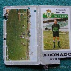 Collectionnisme sportif: ABONO DEL BETIS DE SEÑORA TEMPORADA 1983/1984 83/84. Lote 36348767