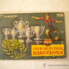Coleccionismo deportivo: CARNET DE SOCIO DEL CLUB DE FUTBOL BARCELONA 1 TRIMESTRE 1953.. Lote 36421919