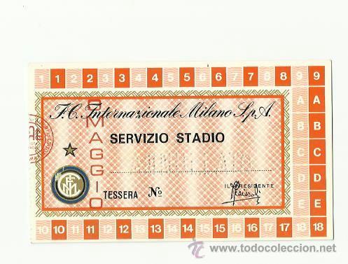 CARNET DE SOCIO DEL INTER DE MILAN TEMPORADA 1976-1977. (Coleccionismo Deportivo - Documentos de Deportes - Carnet de Socios)