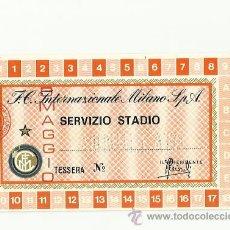 Coleccionismo deportivo: CARNET DE SOCIO DEL INTER DE MILAN TEMPORADA 1976-1977.. Lote 36658597