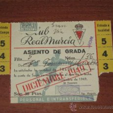 Coleccionismo deportivo: CLUB REAL MURCIA - CARNET MENSUAL DE DICIEMBRE DE 1949 - RARO. Lote 37026480
