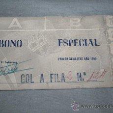 Coleccionismo deportivo: CARNET DE SOCIO DEL LEVANTE ABONO ESPECIAL TEMPORADA 57-58. Lote 37257841