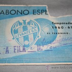 Coleccionismo deportivo: CARNET DE SOCIO DEL LEVANTE ABONO ESPECIAL TEMPORADA 60-61. Lote 37257897