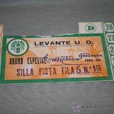 Coleccionismo deportivo: CARNET DE SOCIO DEL LEVANTE ABONO ESPECIAL TEMPORADA 63-64. Lote 37266878