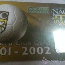 Coleccionismo deportivo: CARNET DE SOCIO NAC BREDA 2001-2002. Lote 38401436