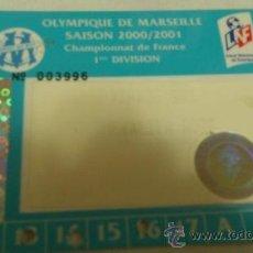 Coleccionismo deportivo: CARNET DE SOCIO OLYMPIQUE DE MARSELLA 2000-2001. Lote 38401922