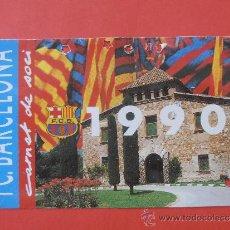 Coleccionismo deportivo: CARNET DE SOCIO DEL F.C.BARCELONA DEL AÑO 1.990 ANUAL. Lote 38602157