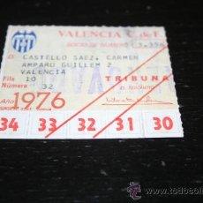 Coleccionismo deportivo: CARNET DE SOCIO DEL VALENCIA C. F TEMPORADA 1976 PASE ANUAL. Lote 39211820