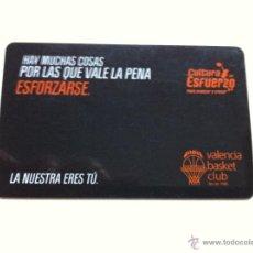 Colecionismo desportivo: CARNET DE SOCIO VALENCIA BASKET. BALONCESTO. TEMPORADA 2011/2012. Lote 39374635