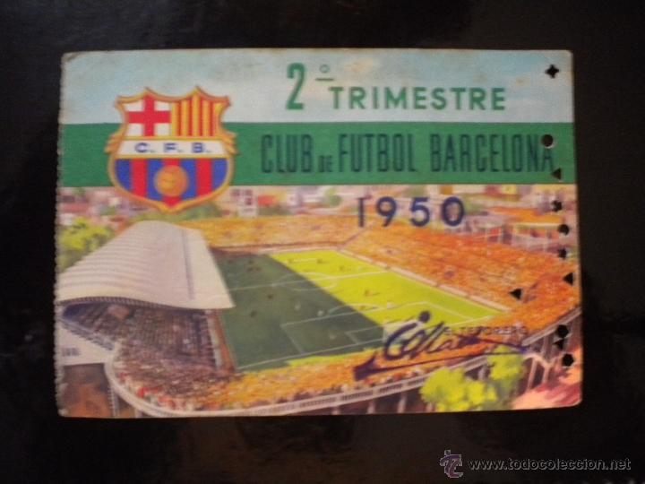 CARNET DE SOCIO DEL CLUB DE FUTBOL BARCELONA 1950. (Coleccionismo Deportivo - Documentos de Deportes - Carnet de Socios)