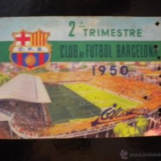 Coleccionismo deportivo: CARNET DE SOCIO DEL CLUB DE FUTBOL BARCELONA 1950.. Lote 39385893