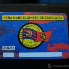Coleccionismo deportivo: ANTIGUO CARNET SOCIO PEÑA BARCELONISTA DE ZARAGOZA BARCELONA FUTBOL BARÇA. Lote 39400514