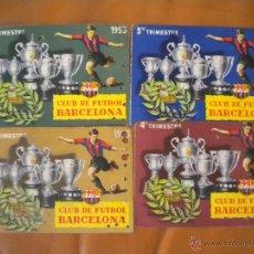 Coleccionismo deportivo: LOTE DE LOS 4 CARNET DEL CLUB DE FUTBOL BARCELONA TEMPORADA 1953.. Lote 39470099