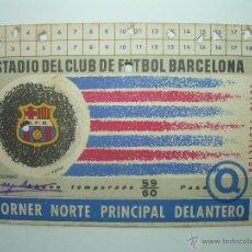 Coleccionismo deportivo: CARNET SOCIO...C.F. BARCELONA....AÑO 59 - 60. Lote 39779739