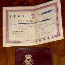Coleccionismo deportivo: CARNET DEL REAL MADRID CLUB DE FUTBOL 1958 - EXCELENTE ESTADO DE CONSERVACION, CON SUS ABONOS ETC. T. Lote 38254484