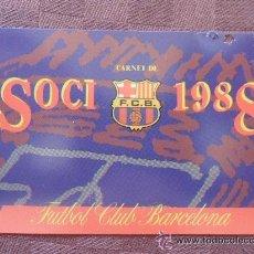 Coleccionismo deportivo: CARNET AÑO 1988 F.C. BARCELONA. Lote 40710774