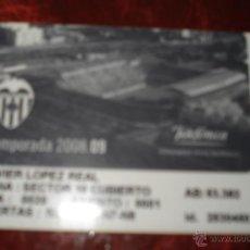 Coleccionismo deportivo: ABONO DEL MESTALLA 2008-09. Lote 40946135