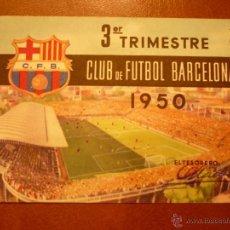 Coleccionismo deportivo: CARNET DE SOCIO , CLUB DE FUTBOL BARCELONA , 1950 , 3ER TRIMESTRE .. Lote 41061281