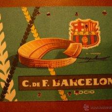 Coleccionismo deportivo: CARNET DE FÚTBOL BARCELONA , ANUAL , 1959 .. Lote 41061400