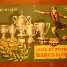 Coleccionismo deportivo: CARNET DE SOCIO , CLUB DE FÚTBOL BARCELONA , 1953 , 1ER TRIMESTRE .. Lote 41062395