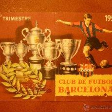 Coleccionismo deportivo: CARNET DE SOCIO , CLUB DE FÚTBOL BARCELONA , 1953 , 4TO TRIMESTRE .. Lote 41062474