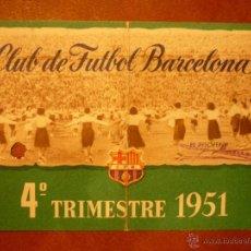 Coleccionismo deportivo: CARNET DE SOCIO , CLUB DE FÚTBOL BARCELONA , 1951 , 4TO TRIMESTRE .. Lote 41062794