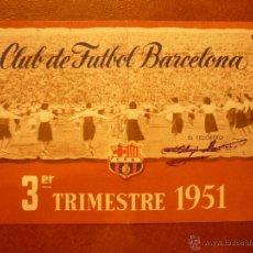 Coleccionismo deportivo: CARNET DE SOCIO , CLUB DE FÚTBOL BARCELONA , 1951 , 3ER TRIMESTRE.. Lote 41062846