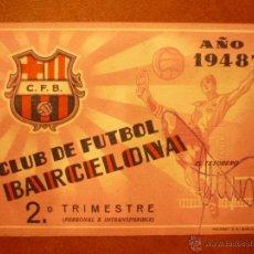 Coleccionismo deportivo: CARNET DE SOCIO , CLUB DE FÚTBOL BARCELONA , 1948 , 2DO TRIMESTRE .. Lote 41062925