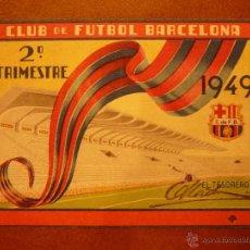 Coleccionismo deportivo: CARNET DE SOCIO , CLUB DE FÚTBOL BARCELONA , 1949 , 2DO TRIMESTRE .. Lote 41062969