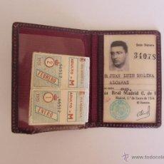 Coleccionismo deportivo: ANTIGUO CARNET DE SOCIO DEL REAL MADRID - AÑO 1954 - EN BUEN ESTADO - CON SUS RECIBOS DE LA EPOCA - . Lote 42431474