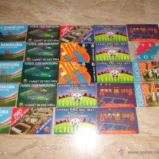 Coleccionismo deportivo: LOTE DE 28 CARNETS DE SOCIO DEL F.C BARCELONA AÑOS77,78,79, 83,84,85,86,87,88,89,90. Lote 42696329