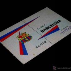 Coleccionismo deportivo: CARNET SOCIO ABONO CLUB FÚTBOL BARCELONA 3ER. TRIMESTRE AÑO 1962. SIN PERFORAR.. Lote 42768369