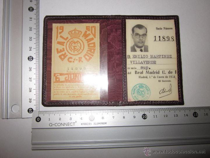 Coleccionismo deportivo: REAL MADRID C. DE F. - CARNET SOCIO - AÑO 1954 Y TARJETA DE 1960 - (V- 604) - Foto 5 - 43310209
