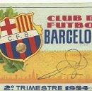 Coleccionismo deportivo: (F-910)CARNET C.F.BARCELONA,AÑO 1954,2º TRIMESTRE. Lote 45431691