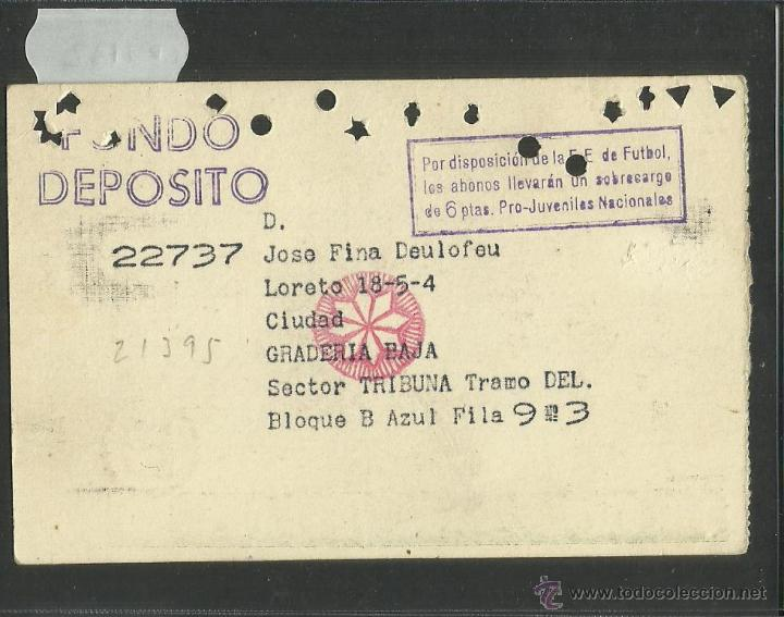 Coleccionismo deportivo: CLUB DE FUTBOL BARCELONA - ABONO - TRIBUNA BAJA - TEMPORADA 1959 1960 - BARÇA - (CD-1132) - Foto 2 - 46140781