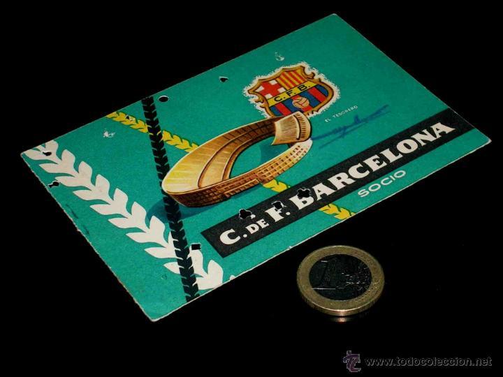 CARNET SOCIO ABONO CLUB FÚTBOL BARCELONA, 2º TRIMESTRE 1959. (Coleccionismo Deportivo - Documentos de Deportes - Carnet de Socios)