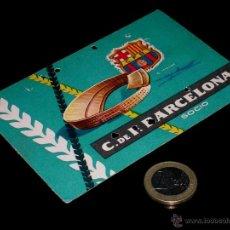 Coleccionismo deportivo: CARNET SOCIO ABONO CLUB FÚTBOL BARCELONA, 2º TRIMESTRE 1959.. Lote 46392765