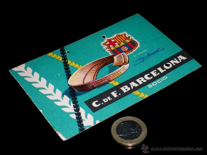 CARNET SOCIO ABONO CLUB FÚTBOL BARCELONA, 3ER TRIMESTRE 1959. (Coleccionismo Deportivo - Documentos de Deportes - Carnet de Socios)