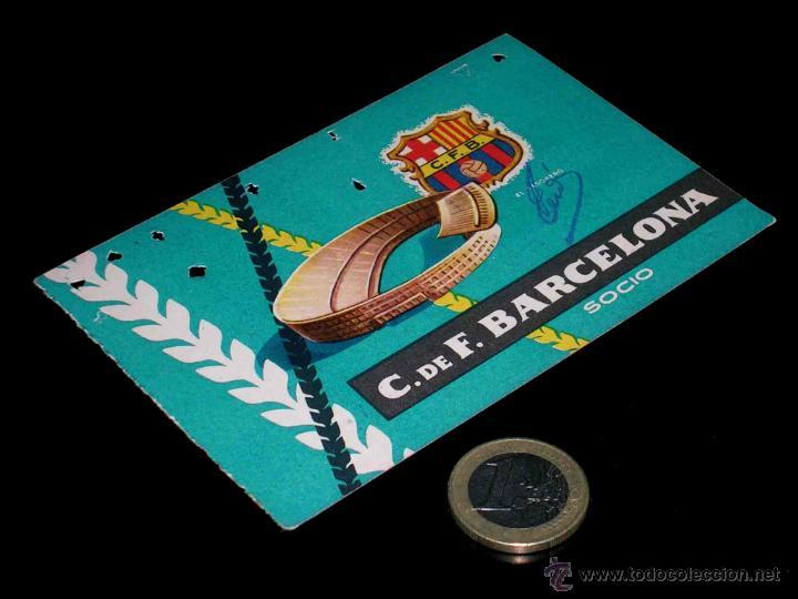 CARNET SOCIO ABONO CLUB FÚTBOL BARCELONA, 4º TRIMESTRE 1959. (Coleccionismo Deportivo - Documentos de Deportes - Carnet de Socios)