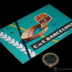 Coleccionismo deportivo: CARNET SOCIO ABONO CLUB FÚTBOL BARCELONA, 4º TRIMESTRE 1959.. Lote 46392826