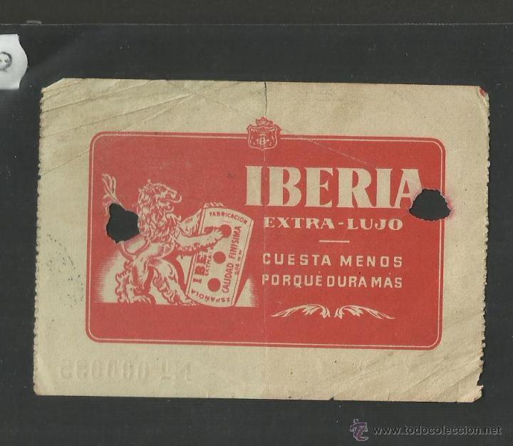 Coleccionismo deportivo: CLUB DE FUTBOL BARCELONA - ENTRADA DE SOCIO - REVERSO PUBLICIDAD CUCHILLAS IBERIA - (CD-1208) - Foto 2 - 46594128