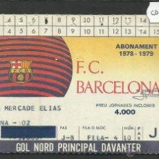 Coleccionismo deportivo: ABONAMENT F.C. BARCELONA - TEMPORADA 1978-79- (CD- 1268). Lote 46830724
