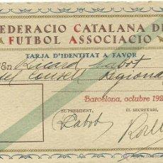 Coleccionismo deportivo: (F-030)CARNET DEL PRESIDENTE DE LA FEDERACIO CATALANA DE FUTBOL ASSOCIACIO,RICARD CABOT,AÑO 1924. Lote 47130583