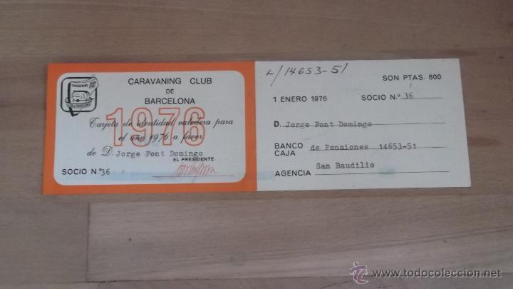 LOTE 15 CARNETS ANUAL SOCIO CLUB CARAVANING BARCELONA CATALUNYA AÑOS 70 80 90 MÁS CARNET PERSONAL (Coleccionismo Deportivo - Documentos de Deportes - Carnet de Socios)