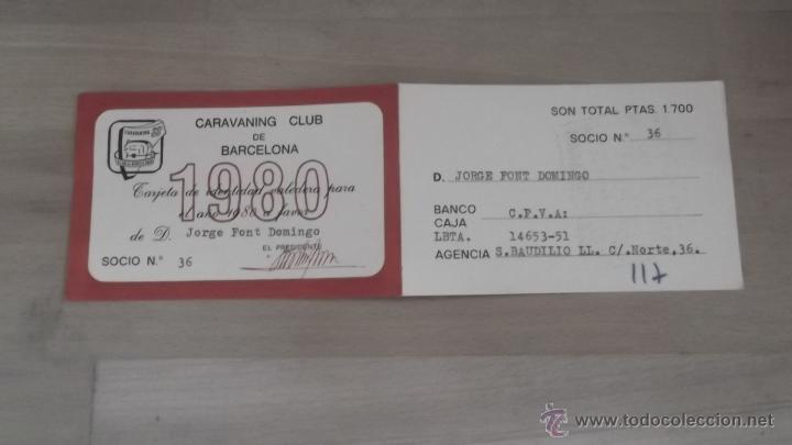 Coleccionismo deportivo: LOTE 15 CARNETS ANUAL SOCIO CLUB CARAVANING BARCELONA CATALUNYA AÑOS 70 80 90 MÁS CARNET PERSONAL - Foto 2 - 47363456