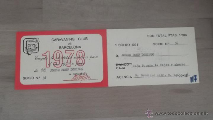 Coleccionismo deportivo: LOTE 15 CARNETS ANUAL SOCIO CLUB CARAVANING BARCELONA CATALUNYA AÑOS 70 80 90 MÁS CARNET PERSONAL - Foto 4 - 47363456